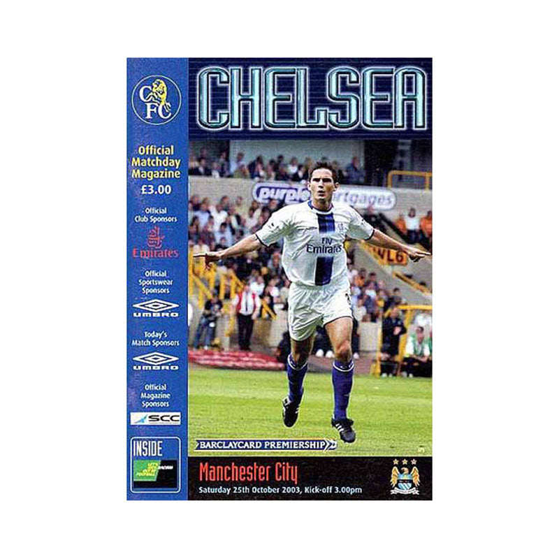 Chelsea FC vs Man City Programme 25 Oct 2003