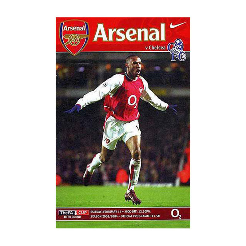 Arsenal vs Chelsea FC Programme 15 Feb 2004