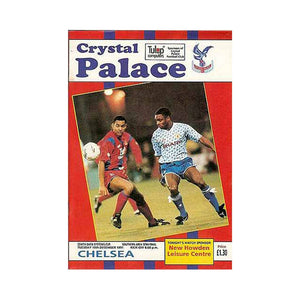 Crystal Palace vs Chelsea FC Programme 10 Dec 1991