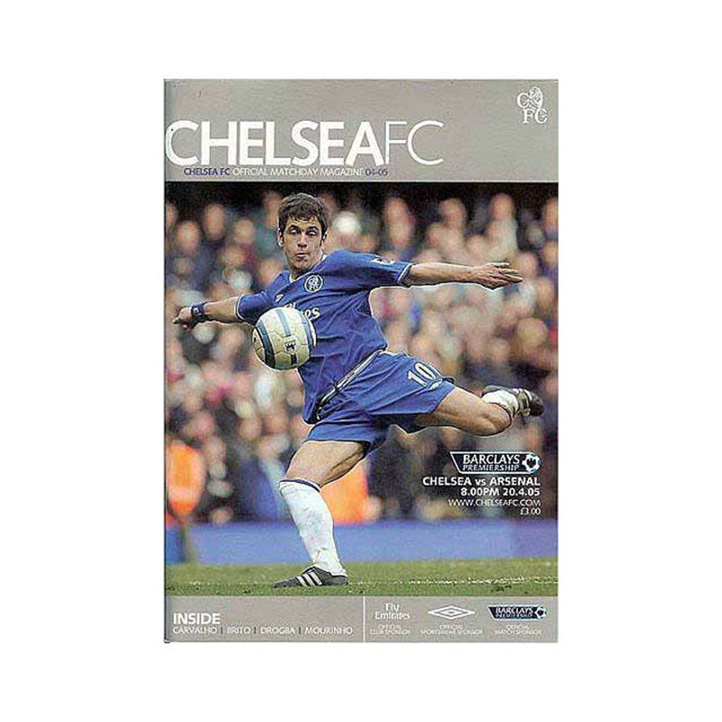 Chelsea FC vs Arsenal Programme 20 Apr 2005