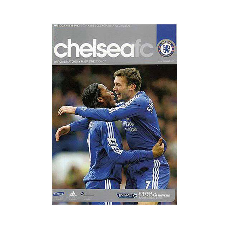 Chelsea FC vs Blackburn Programme 31 Jan 2007