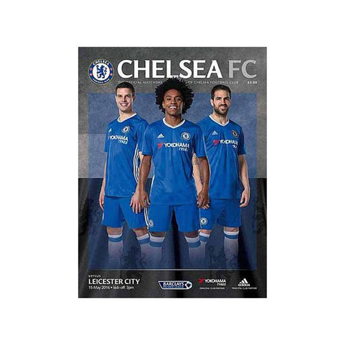 Chelsea FC vs Leicester Programme 11 May 2016