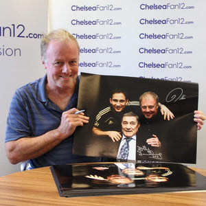 Kerry Dixon holding up 'Top Goal Scorers' (A3) Signed Photo