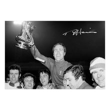 Load image into Gallery viewer, Ron Harris Signed Photograph, holding up the FA Cup in 1970