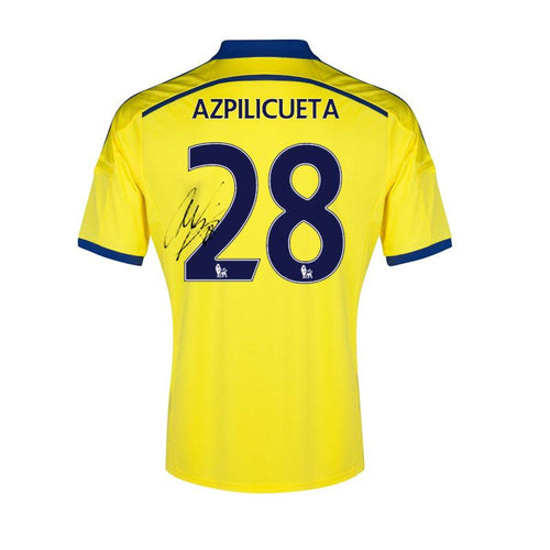 Cesar Azpilicueta Signed Match Issued Chelsea FC Shirt 2014/2015