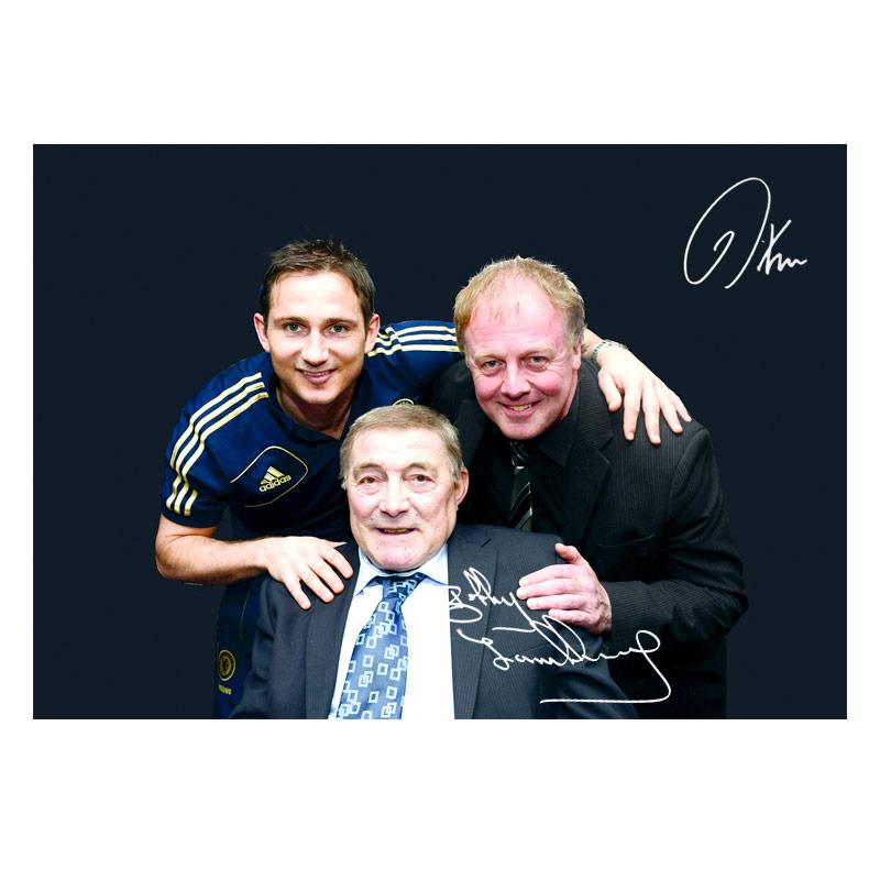 Bobby Tambling and Kerry Dixon Signed Photo - 'Top Goal Scorers' (A3)