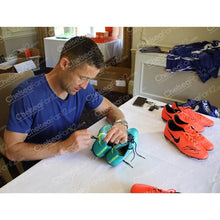 Load image into Gallery viewer, Gary Cahill Memorabilia, hand signing nike football boots