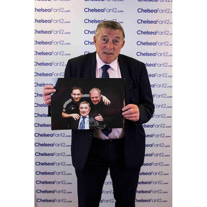 Bobby Tambling holding up 'Top Goal Scorers' (A3) Signed Photo