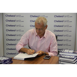 Author Harry Harris signing King Conte book, during signing session with ChelseaFan12