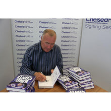 Load image into Gallery viewer, Chelsea legend Ron Harris signing King Conte book, during signing session with ChelseaFan12