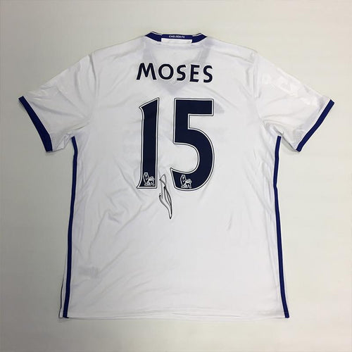 Victor Moses Signed 2016/2017 Chelsea FC Away Shirt