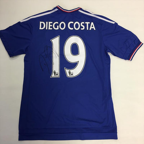 Diego Costa Signed 2015/2016 Chelsea FC Shirt