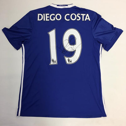 Diego Costa Signed Chelsea FC Shirt 2016/2017