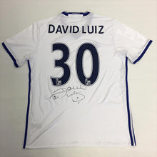 Load image into Gallery viewer, David Luiz Signed 2016/2017 Chelsea FC Away Shirt