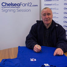 Load image into Gallery viewer, Ron Harris Signed Chelsea 1970 Retro Football Shirt