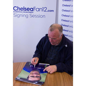 Ron Harris signing a Chelsea FC Photo from 1970