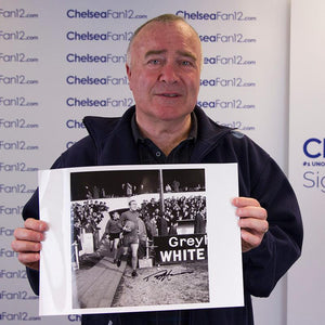 Ron Harris Signed FA Cup Fourth Round Replay Photo - Chelsea v Preston North End