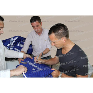 John Terry signing limited edition shirt - close up