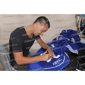 John Terry Signing a Chelsea Shirt, during an exclusive signing session