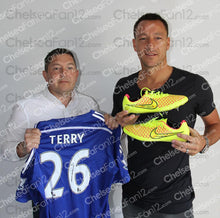 Load image into Gallery viewer, John Terry Signed Match Worn Yellow Boots 2014/2015