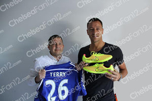 John Terry Signed Match Worn Yellow Boots 2014/2015
