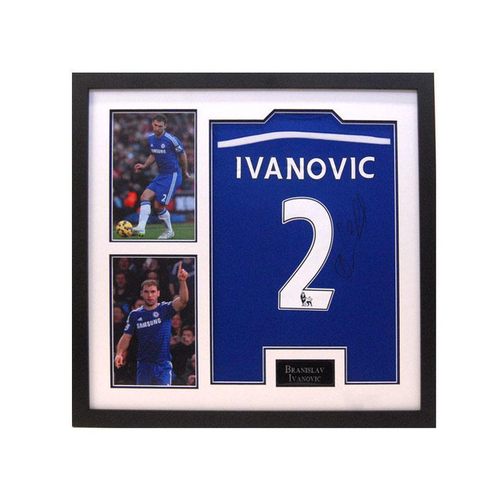 Ivanovic Shirt in a large frame with two pictures