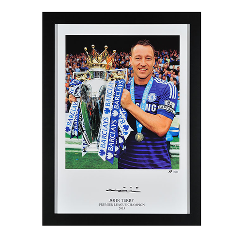 John Terry Signed Photo 'Premier League Champions' - Framed, Chelsea Football Club Memorabilia