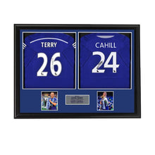 Load image into Gallery viewer, John Terry and Gary Cahill Chelsea Shirts - Dual Framed