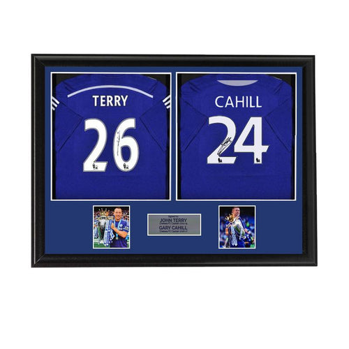John Terry and Gary Cahill Chelsea Shirts - Dual Framed