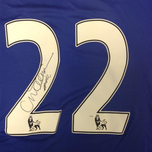 Willian Signed Chelsea Shirt, close up of Willian autograph