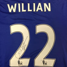 Load image into Gallery viewer, Willian Signed Shirt, close up of Willian signature