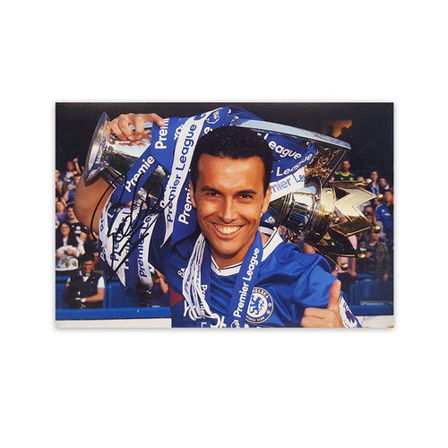Pedro Signed Photo 'Premier League Champions'