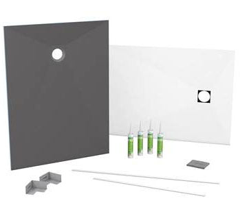 Kit receveur complet rectangulaire Fundo Top Slim-Kit