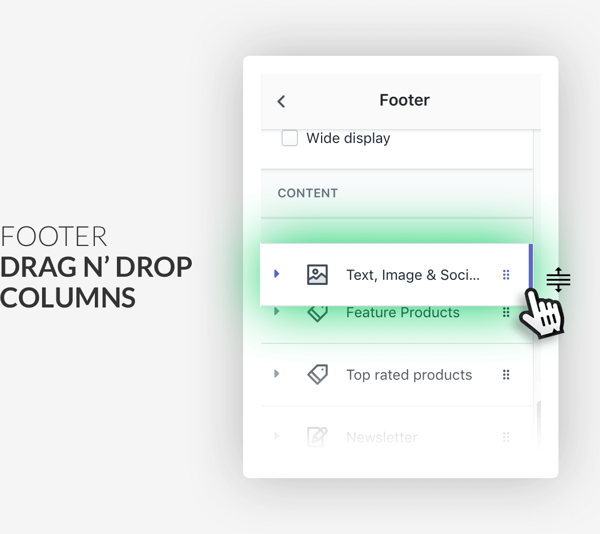 Drag & drop footer columns