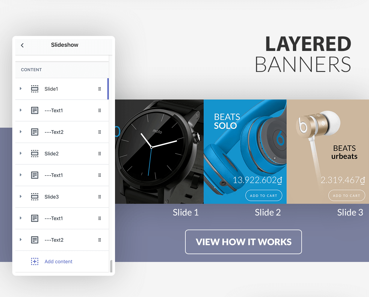 Layer banner creator