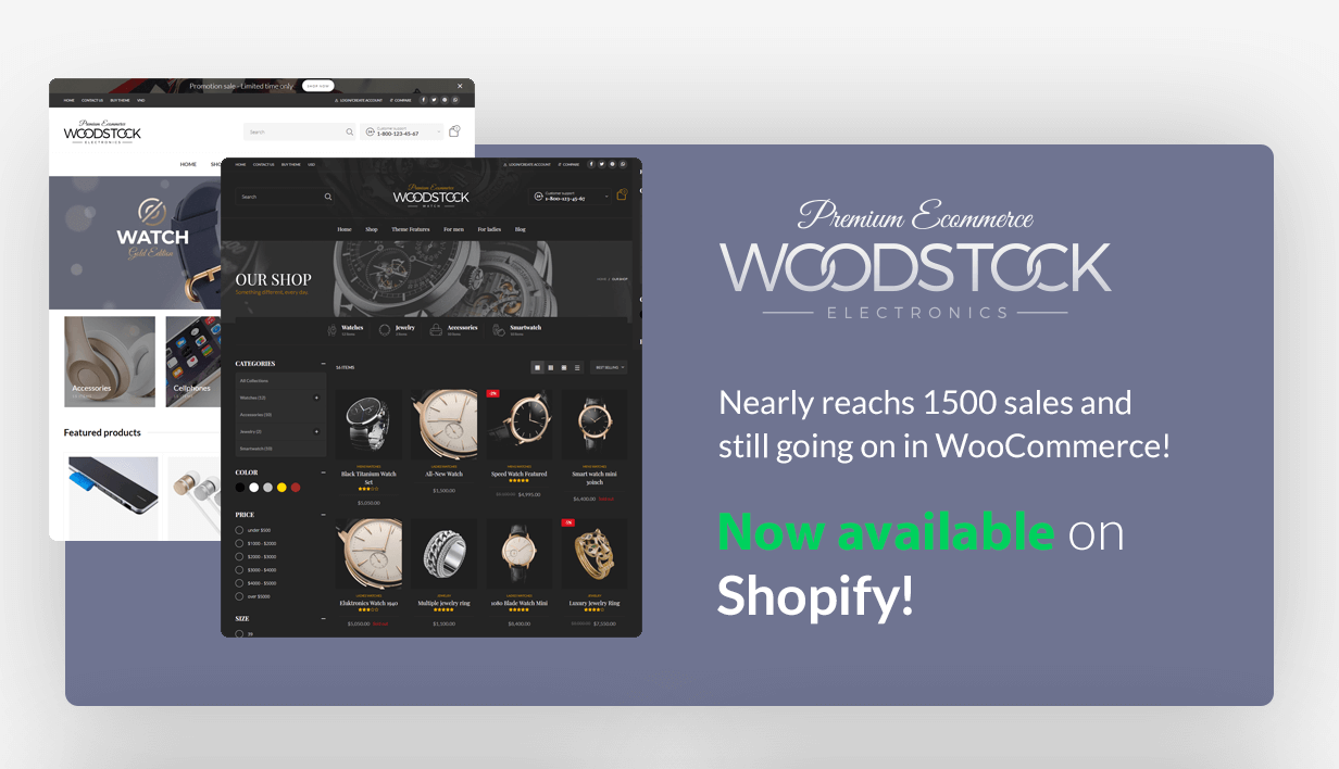 Woodstock Shopify version is available