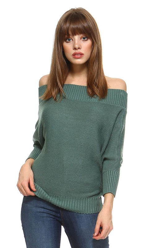 Rule The World Sweater Top-Sage