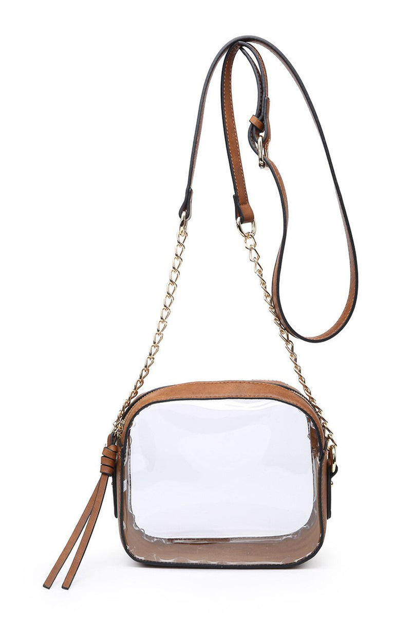 Top Notch Clear Purse - Brown