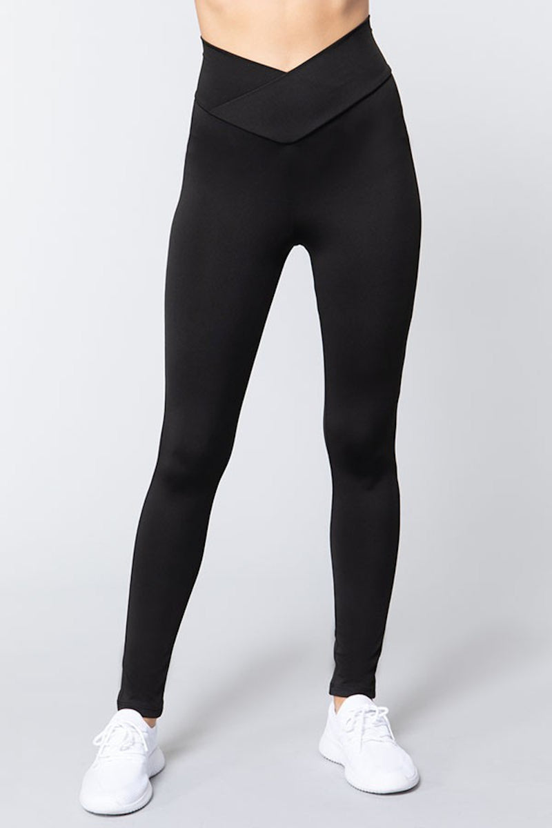 High Waisted Athletic Leggings - Black