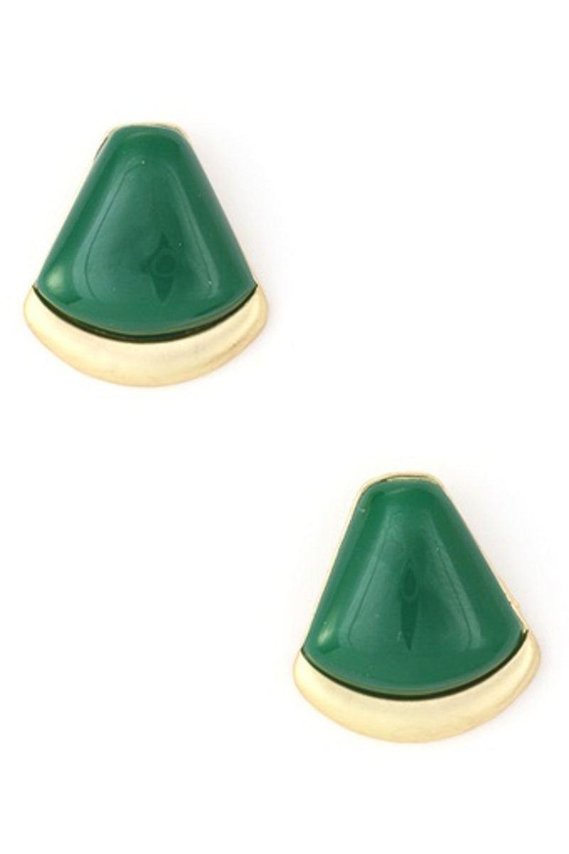 Acrylic Jewel Earring-Emerald