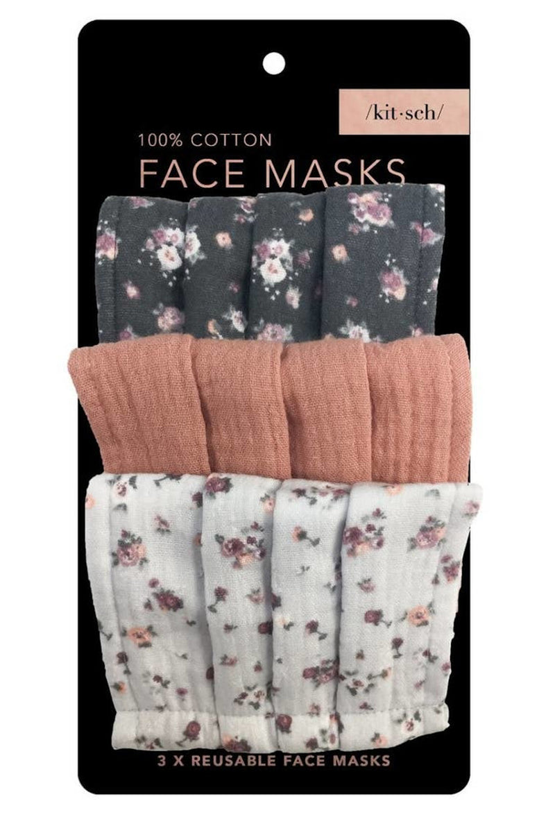 Kitsch- Cotton Face Mask Set-Vintage Floral
