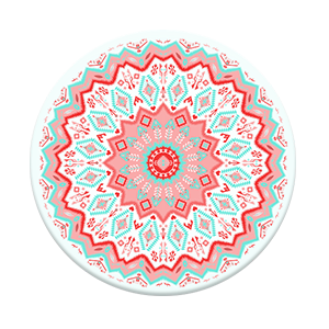 SALE-Pop Socket-Aztec Mandala Red