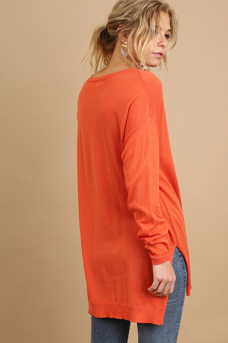 Cross The Line Sweater Top-Carrot