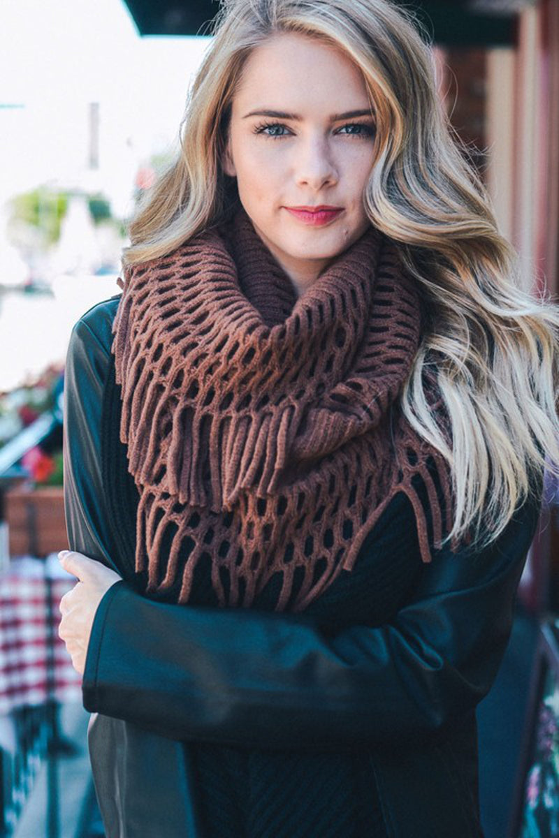 Wrap It In Love Scarf-Chocolate