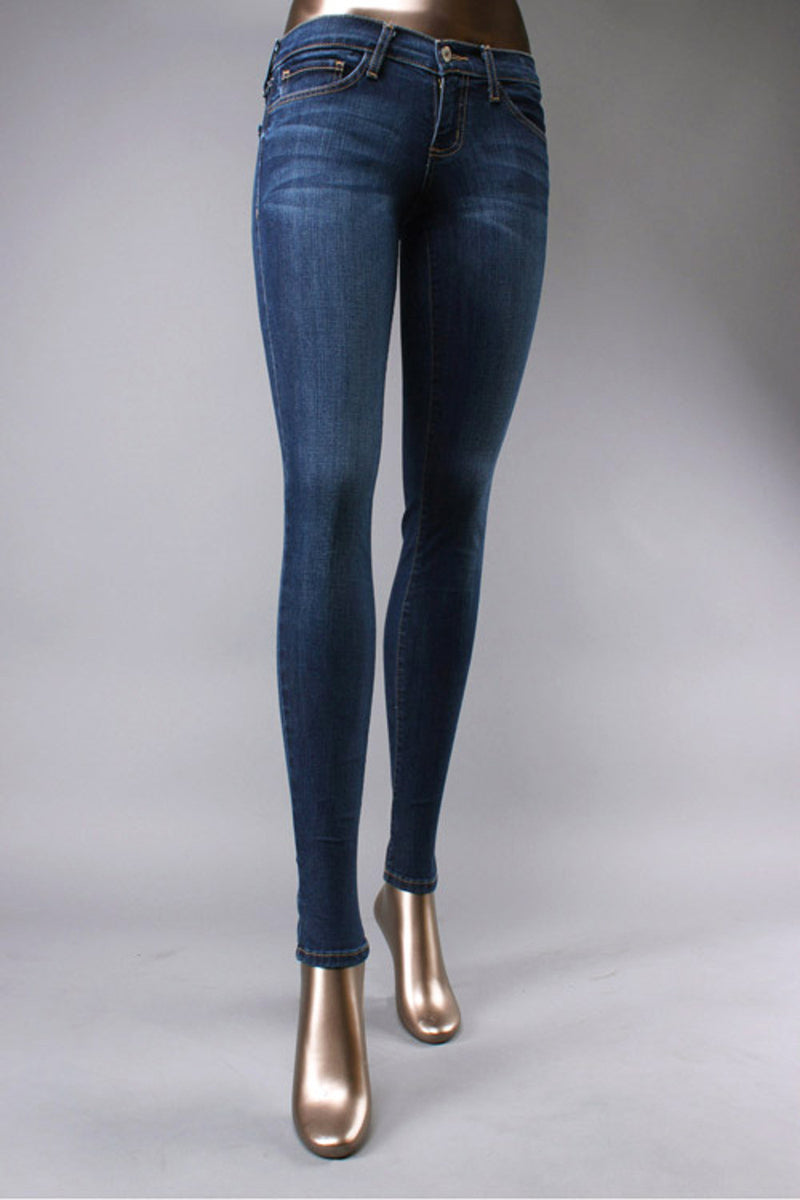Flying Monkey Dark Wash Skinny Jeans-Denim