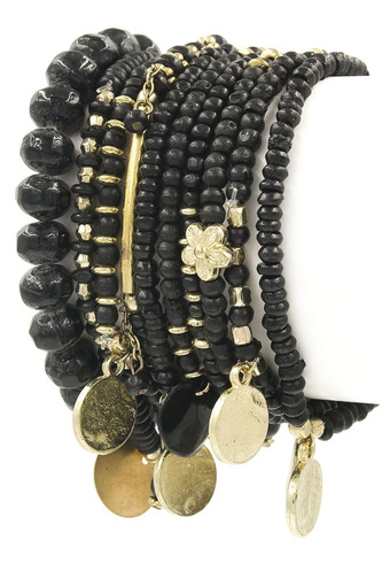 Indian Style Bracelet Set-Black