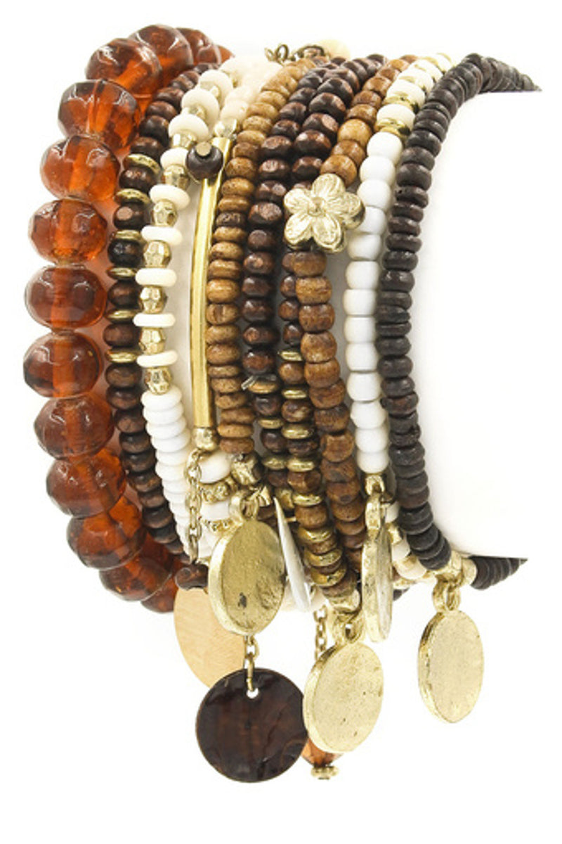Indian Style Bracelet Set-Natural