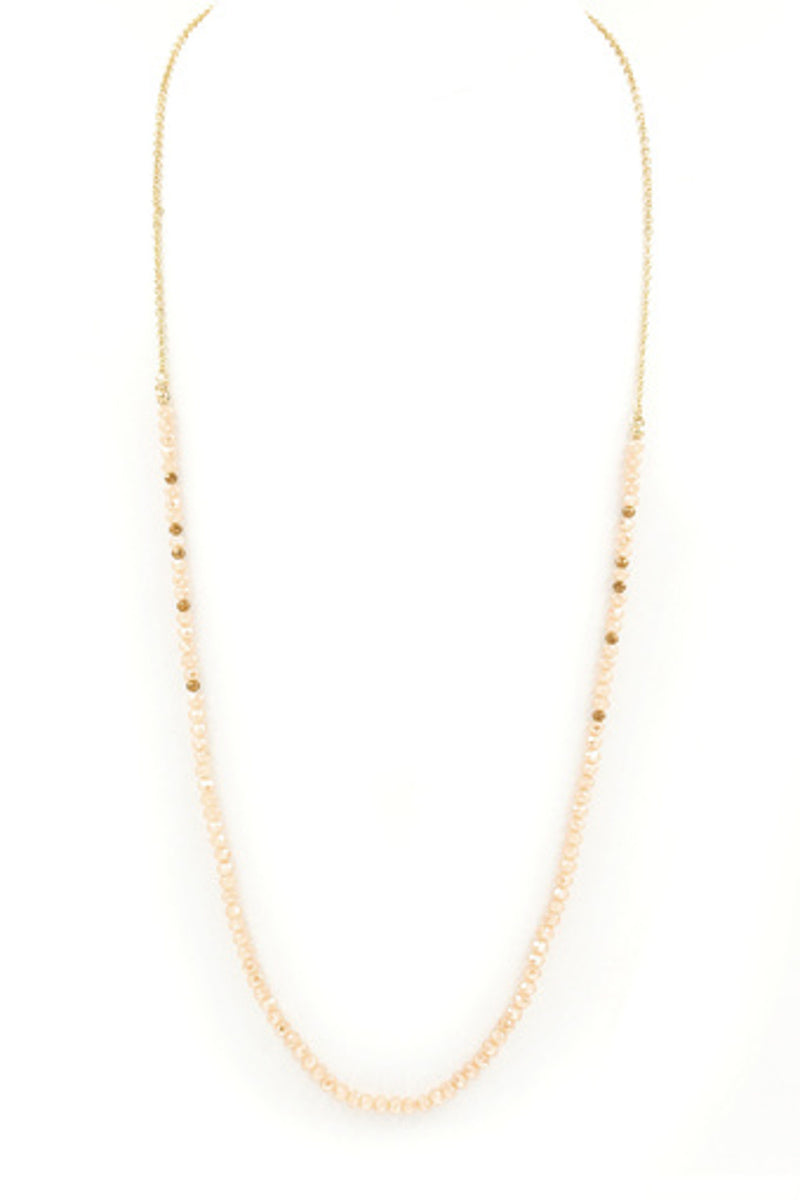 Faceted Bead Necklace-Topaz