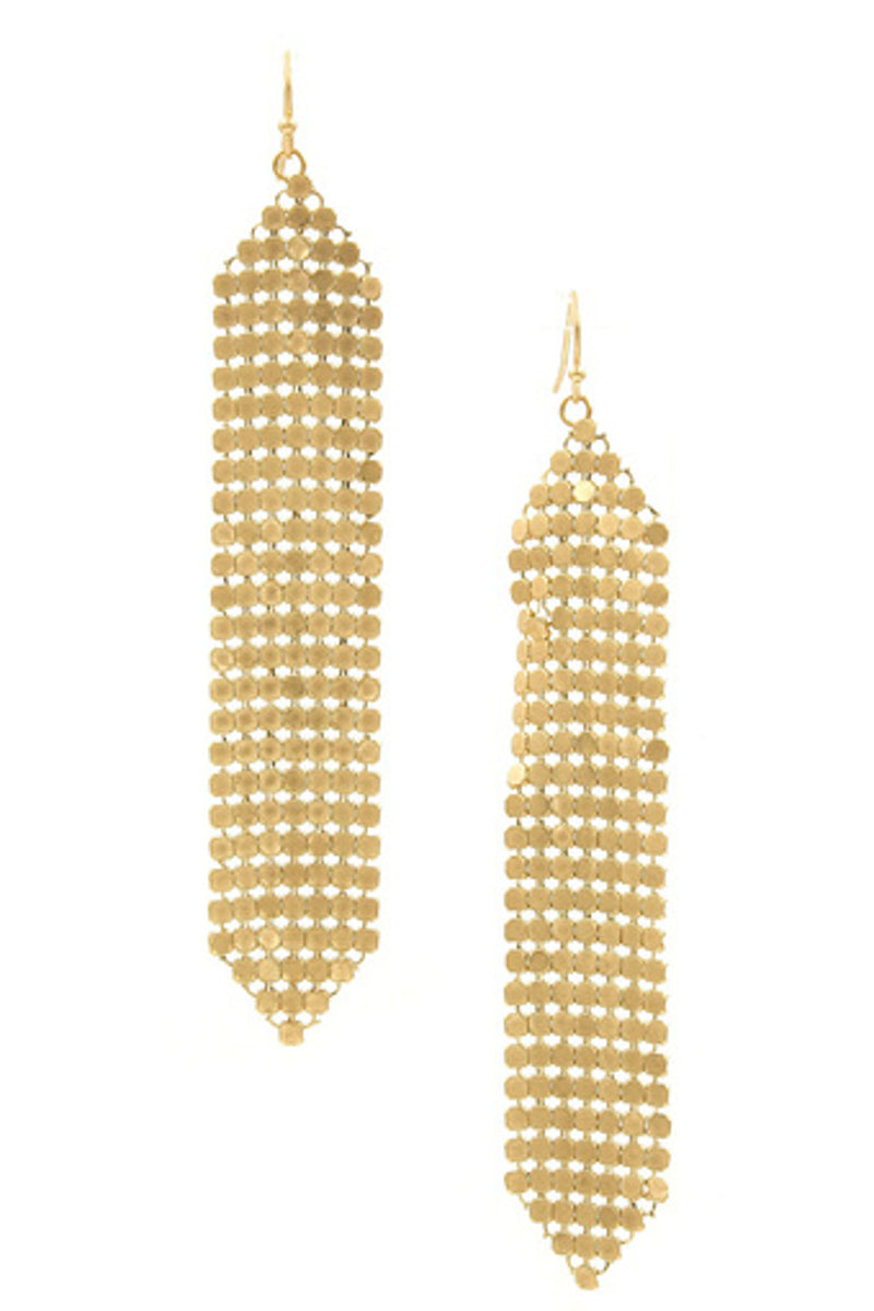 Plated Brass Coin Drop Earrings-Worn Gold