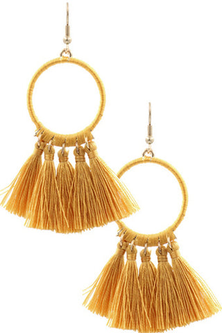 Acrylic Pearl Teardrop Earrings-Worn Gold